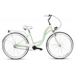 Rower 28 VELLBERG LAVENDER VELO, miętowy +biały