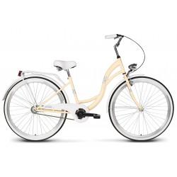 Rower 28 VELLBERG LAVENDER VELO, jasno kremowy + biały