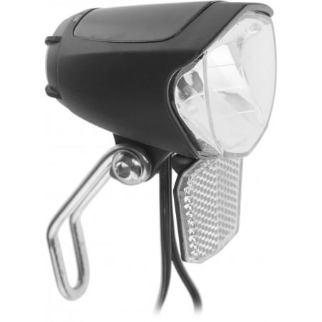 Lampa przednia /dynamo/ na widelec JY-7070 1LED 70lux z odblaskiem