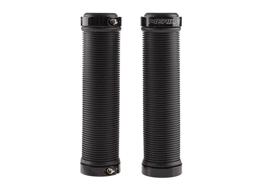Chwyty kierownicy Merida 2 pierścienie guma GP-MD010 czarne 130mm