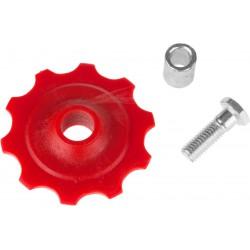 Kółko przerzutki /10T/ czerwone + śruba + tulejka
