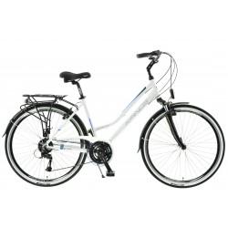 "Rower 28 KANDS Alfa City D Acera trekk. biało-niebieski mat 17"""
