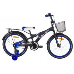Rower 20 MEXLLER BMX czarno-niebieski mat + koszyk 19r