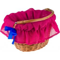 Wkładka do koszyka materiałowa TEX różowo - niebieska
