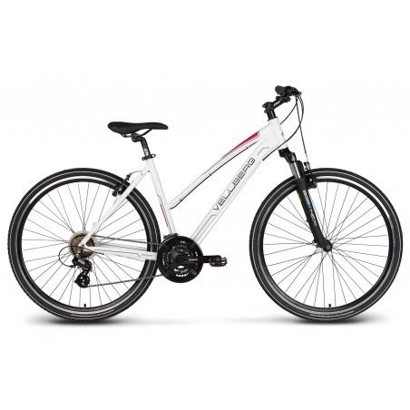 "Rower 28 VELLBERG EXPLORER 1.2 D cross ALTUS biało-różowy mat. 17"""