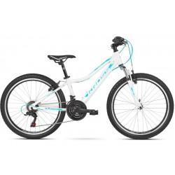 Rower 24 KROSS EDITION JR Tourney biało-niebieski mat