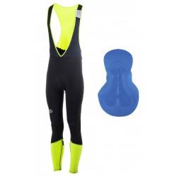 Spodnie ROGELLI IMPACT ocieplane z szelkami czarno-fluor XL