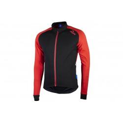 Bluza ROGELLI CALUSO 2.0 czarno-czerwona XL lekko ocieplana