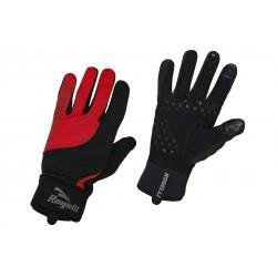 Rękawiczki ROGELLI STORM dł.palce ocieplane czarno/czerwone L