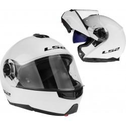 Kask motocyklowy LS2 FF325 STROBE szczękowy blenda, biały M 57-58cm