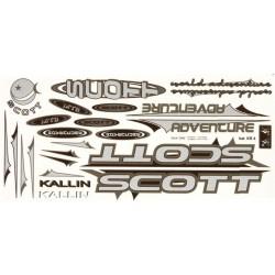 Naklejka KR4 - SCOTT srebro-oliwkowe zestaw