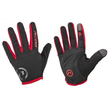 Rękawiczki ACCENT HERO czarno-czerwone L z długimi palcami 2017