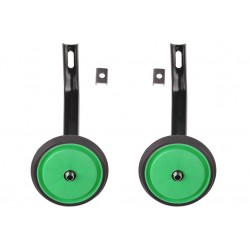 Kółka pomocnicze pełne z oponką 16 S zielone