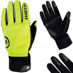 Rękawiczki ACCENT IGLOO ocieplane żółte fluo XL