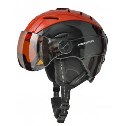 Kask narciarski AXER SKI JET L 58-61cm z szybką black/red