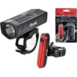 Lampa p+t /akumulator/ PROX AERO PLUS SET 400lm+10lm USB