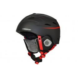 Kask narciarski AXER PEAKS L 58-61cm black/red
