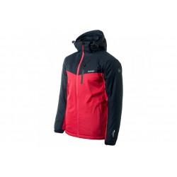 Kurtka narciarska HI-TEC BRENER męska L czarno-czerwona