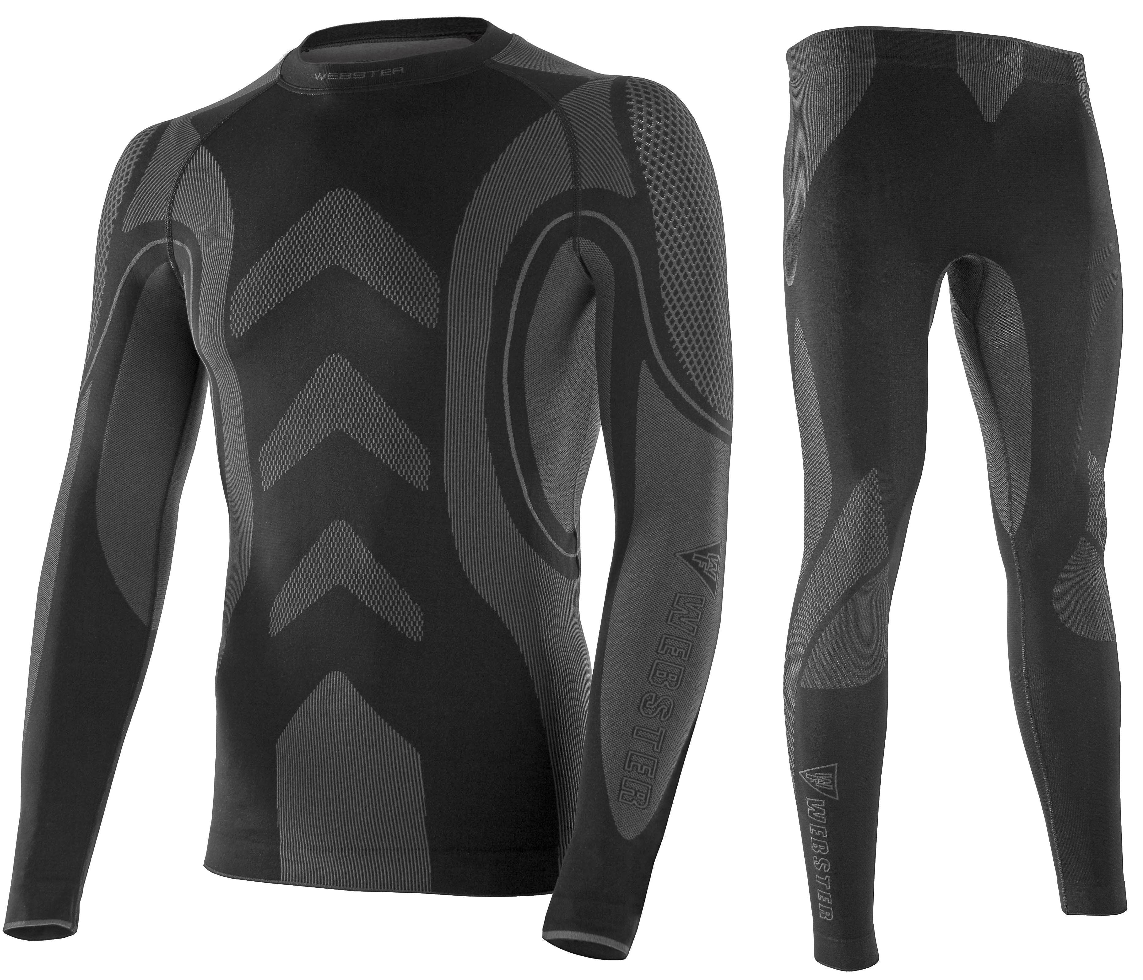Bielizna termoaktywna WEBSTER męska XL czarna (koszulka+spodnie)