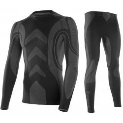 Bielizna termoaktywna WEBSTER męska XXL czarna (koszulka+spodnie)