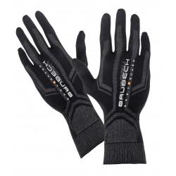 Rękawiczki termoaktywne BRUBECK czarno-szare S/M GE10010A