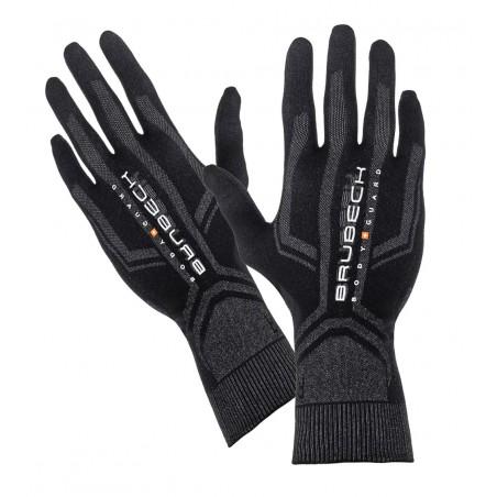 Rękawiczki termoaktywne BRUBECK czarno-szare L/XL GE10010A