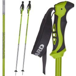 Kijki narciarskie BLIZZARD Allmountain zielono-czarno-srebrne 125 cm