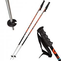 Kijki narciarskie BLIZZARD Race 7001 Carbon czarno-pomarańczowe 130 cm