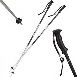 Kijki narciarskie BLIZZARD Sport czarno-srebnre mat 130 cm