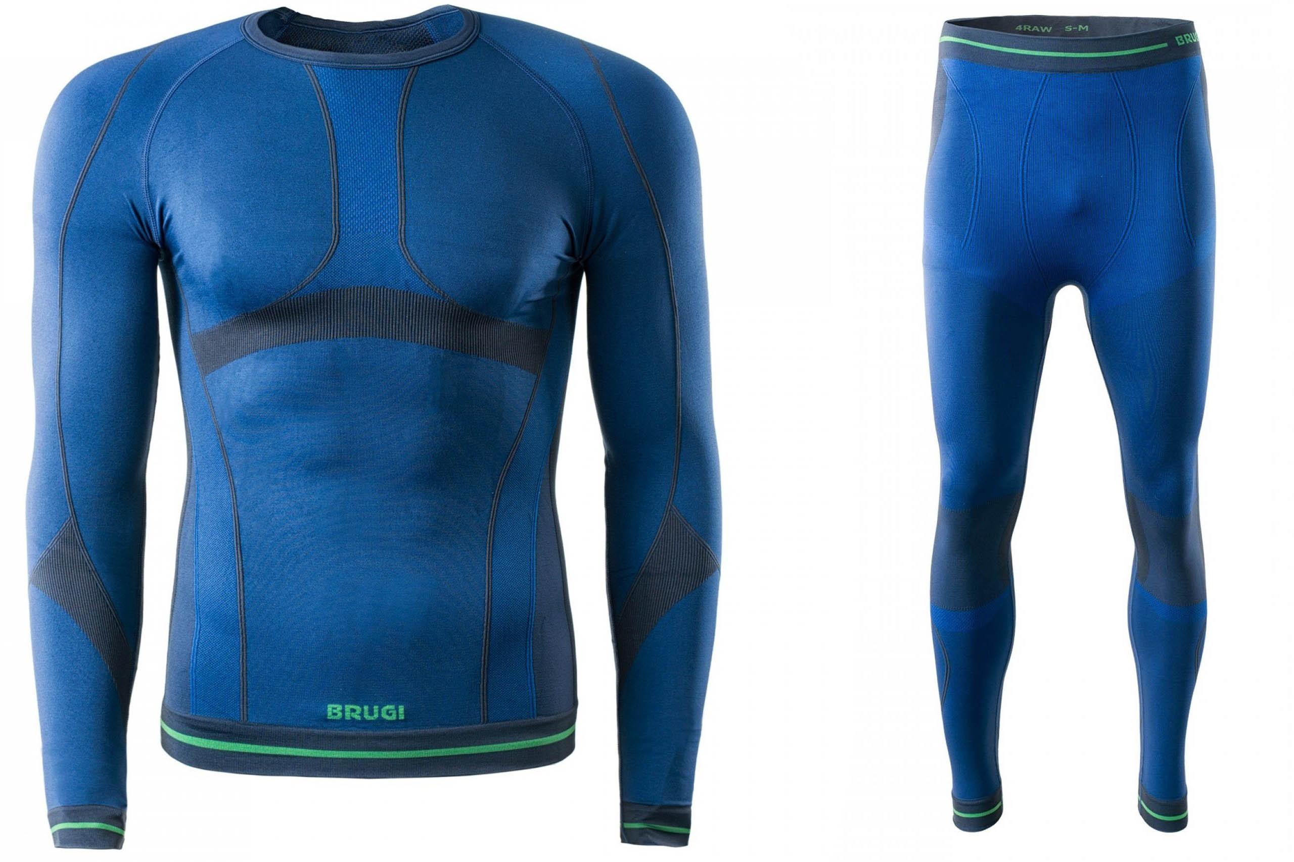 Bielizna termoaktywna BRUGI męska 4RAW+4RAT L/XL niebieska NWZ (spodnie+koszulka)