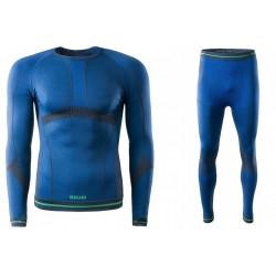 Bielizna termoaktywna BRUGI męska 4RAW+4RAT S/M niebieska NWZ (spodnie+koszulka)
