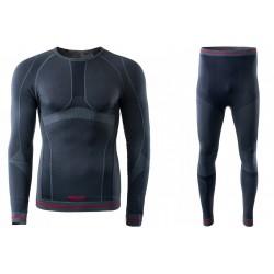 Bielizna termoaktywna BRUGI męska 4RAW+4RAT L/XL czarna X15 (spodnie+koszulka)