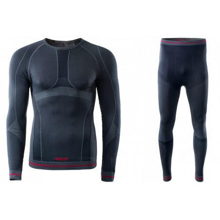Bielizna termoaktywna BRUGI męska 4RAW+4RAT S/M czarna X15 (spodnie+koszulka)