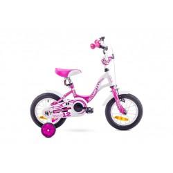 Rower ROMET TOLA 12 biało-różowy