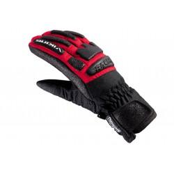 Rękawice narciarskie VIKING COACH RACING czarno-czerwone 9