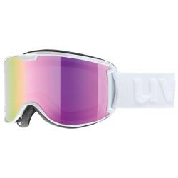 Gogle narciarskie UVEX SKYPER LM białe, mirror pink S3