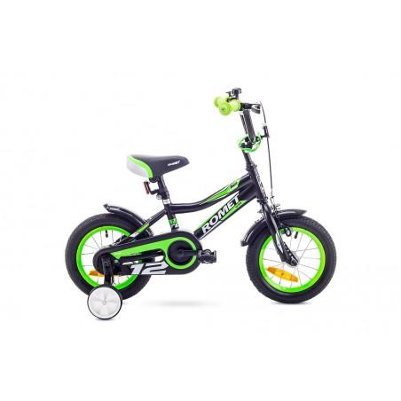 Rower ROMET TOM 12 czarno-zielony