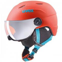 Kask narciarski UVEX JUNIOR VISOR PRO pomarańczowy mat 54-55 M