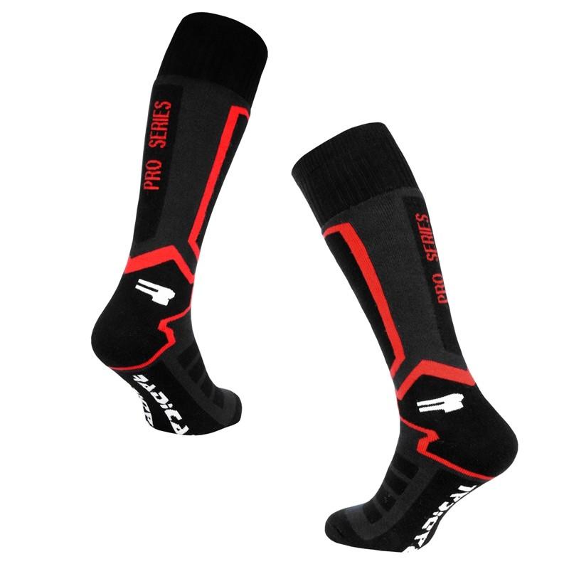 Skarpety narciarskie ROUGH RADICAL PRO SERIES 43-46 czarno-czerwone