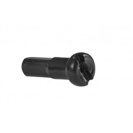 Nakrętka szprychy CN 14mm mosiądz czarna - 10 SZTUK