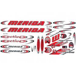Naklejka KR4 - MERIDA czerwona