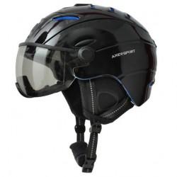 Kask narciarski AXER SKI JET L 58-61cm z szybką black/blue