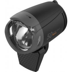 Lampa przednia /dynamo/ KROSS DYNLIGHT 50, na widelec, 180lm, AUTO, podtrz., czarna