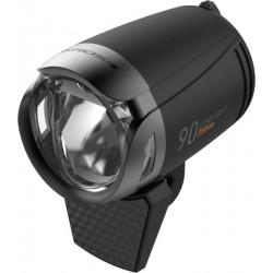 Lampa przednia /dynamo/ KROSS DYNLIGHT 90, na widelec, 350lm, czarna