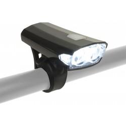 Lampa przednia AUTHOR Doppio 40 Lm czarna
