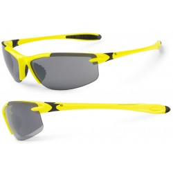 Okulary ACCENT Tempest żółto fluo-czarne soczewki PC:szare + przezroczyste
