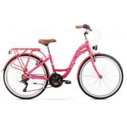 Rower 24 ROMET PANDA 1.0 różowy