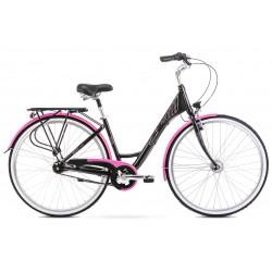 Rower 28 ROMET MODERNE 7 czarno-różowy