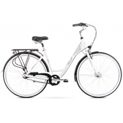 Rower 28 ROMET MODERNE 7 biało-czarny