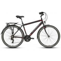 "Rower 28"" KANDS NAVIGATOR-X alum. M 19"" czarno-czerwony mat"